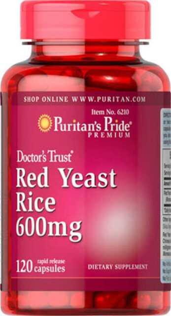 Red YEAST RICE 600 MG X 120 Cápsulas Puritan's Pride-Reduce El Colesterol!!!