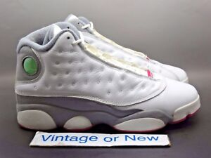 392738ccc7cd Girls  Nike Air Jordan XIII 13 White Spark Stealth Retro GS 2011 sz ...