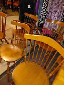 Image Is Loading Vintage Rockport Maple Dining Chairs Price Reduction