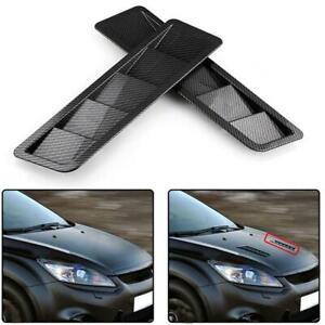 Carbon-Fiber-Style-Universal-Bonnet-Car-Hood-Auto-Vent-Scoop-Cover-Louver-ABS