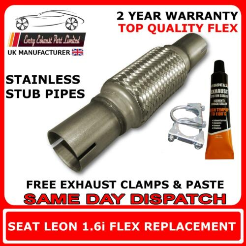 Seat Leon 1.6i 16v 2001-2005 Exhaust Replacement Flex Flexi Pipe for Down Pipe