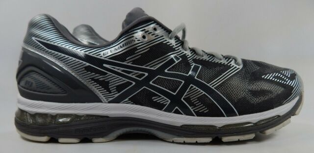 Asics Gel Nimbus 19 Size US 14 M (D) EU 49 Men's Running Shoes Silver Gray T700N
