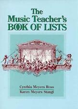 The Music Teacher's Book of Lists (J-B Ed: Book of Lists)