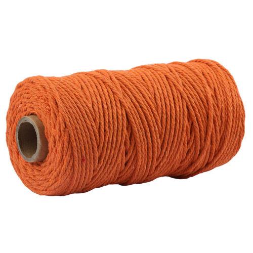 100m x 3mm Woven Hemp Rope Macrame Cord Braided String DIY Making Craft Supplies