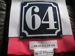 14 weisse Zahl auf blauem Hintergrund 12 cm x 10 cm Emaille Hausnummer Nr