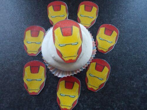 Large Edible precut Iron Man cake and cupcake toppers