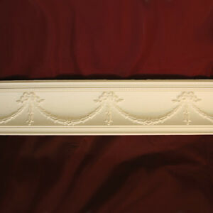 Cornice Coving Swag & Tail. Handmade with Plaster. 3 Meter Lengths Restorations