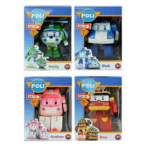 4pcs robocar poli roy amber helly transformers robot car figure kids gift toy 4891813831716 ebay - Robocar poli ambre ...