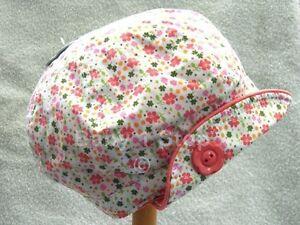 Baby-Girls-Cotton-Floral-Sun-Summer-Hat-Cap-Ages-3-6-6-12-12-24-Months