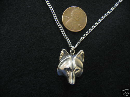 Totem Wolf Face Pendant Necklace 2009