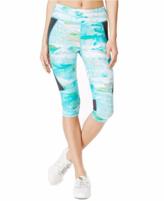 New Calvin Klein Performance Women's Print Cropped Capri Leggings Pants PF6P0927