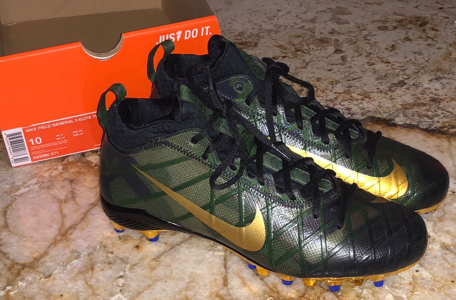 c35156628 Nike Field General 3 Elite TD Football Cleats Camo Green Gold Men ...