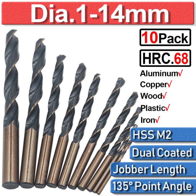 4 PC Straight Shank Drill Set 6.5mm Black Oxide Standard HSS Jobber Length Twist