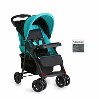 Hauck Caviar / Aqua Shopper Neo Ii Pushchair Stroller Baby Buggy With Raincover