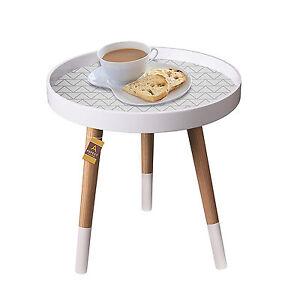 Retro Vintage Side End Table White Modern Scandinavian Style Coffee Lamp Table Ebay