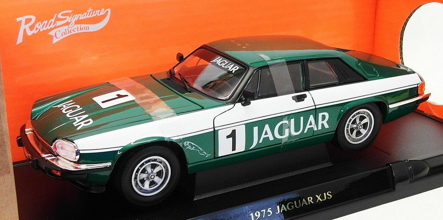 ROAD Signature Modellino in scala 1 18 AUTO 92658 - 1975 JAGUAR XJ-S-Racing verde