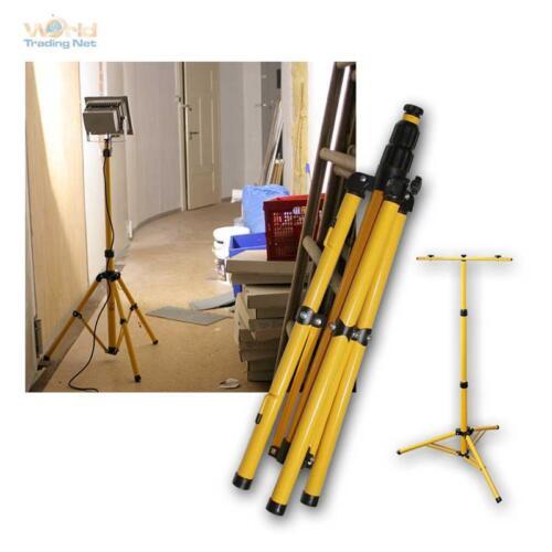 Stativ Ständer für bis zu 3 LED Fluter 30W//50W 145cm für Baustrahler Baulicht
