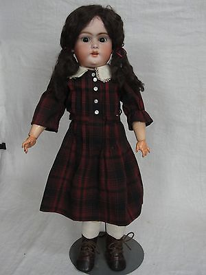 """21"""" Antique Doll - Simon Halbig - Eyebrows almost touching - Mohair Wig"""