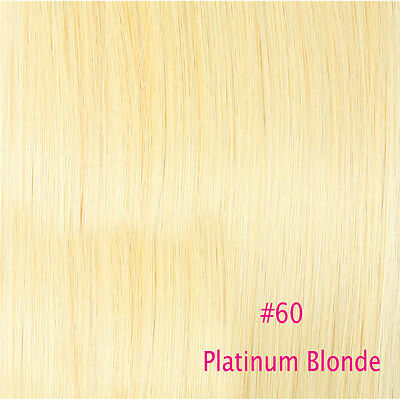 Premium 100% Real Good Clip In Remy Human Hair Extensions Full Head US Sale E059