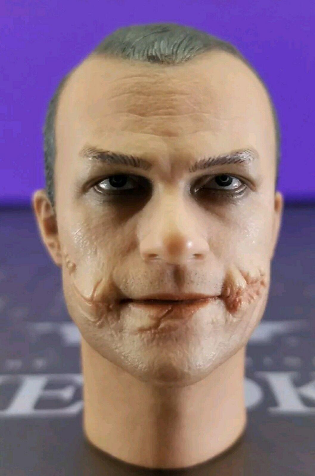 Hot Toys Genuine DX01 Batman TDK 1 6 Joker Heath Ledger Cop head sculpt only