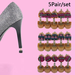 Details about 5Pairs Brown High Heel Shoes DIY Repairs Tips Pin Taps Dowels Lifts Replacem@a