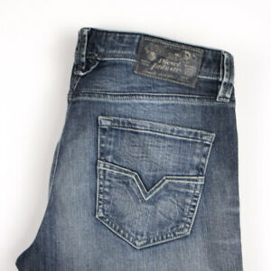 Diesel-Hommes-Larkee-Standard-Droit-Jambe-Jeans-Extensible-Taille-W31-L30