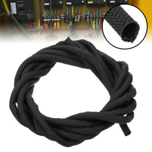 wiring harness protection 3m 5mm braided sleeving nylon braid cable wiring harness loom  nylon braid cable wiring harness loom