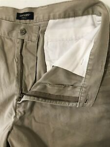 Dockers-36-x-9-034-Khaki-Flat-Front-100-Cotton-Flap-Pocket-Courier-Shorts
