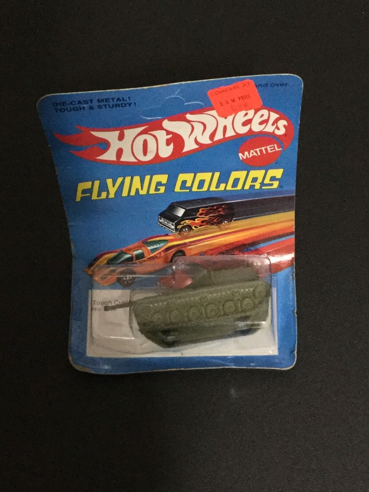 Hot Wheels rossoline Flying Colors Tough Customer Tank Unpunched Mint On Card 7655