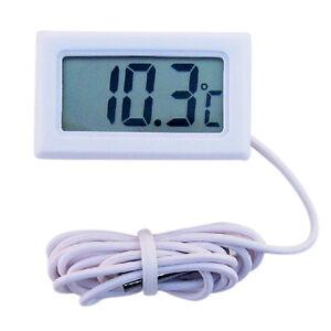 lcd digital thermometer f r k hlschrank aquarium fish tank temperatur wei. Black Bedroom Furniture Sets. Home Design Ideas