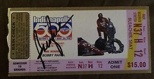 Bobby Rahal Signed Indy 500 Indianapolis 8 X 10 Photo 1986 Win