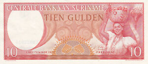10-GULDEN-EXTRA-FINE-BANKNOTE-FROM-SURINAME-1963-PICK-121