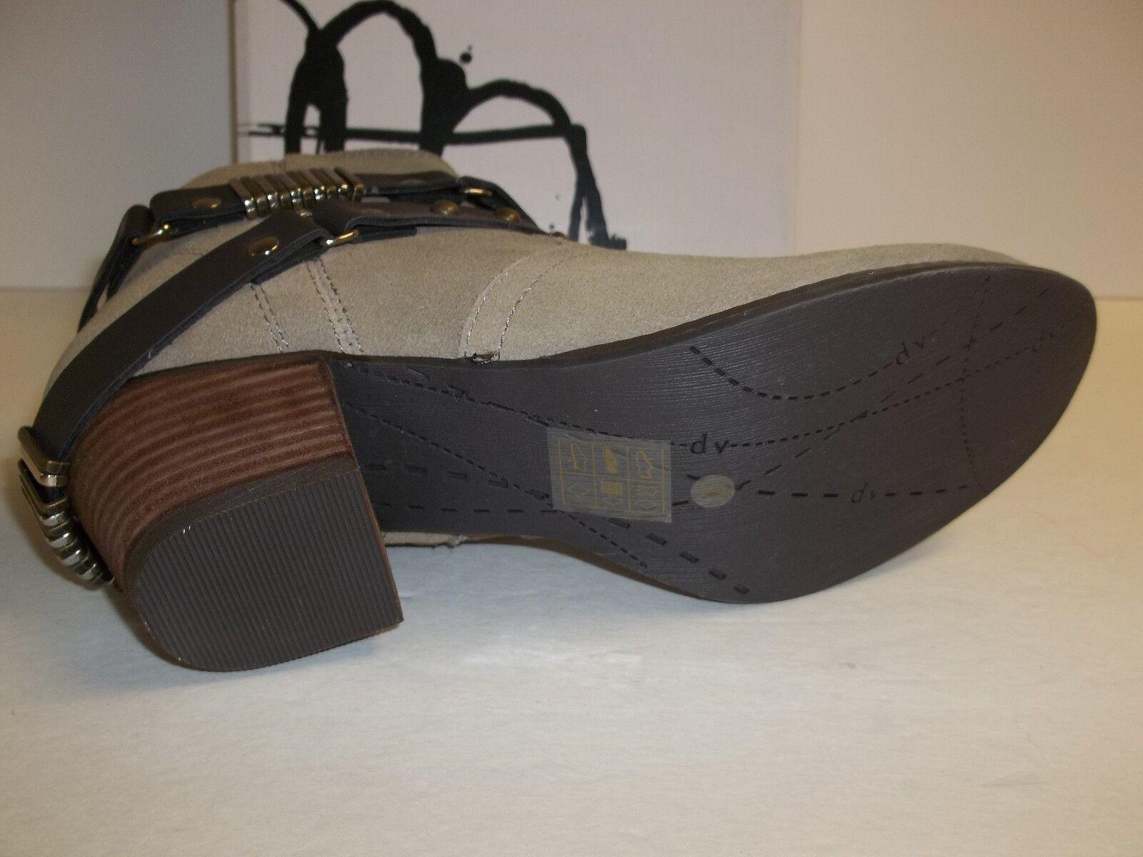 Dolce Vita DV Größe 7 M Jacy Taupe Suede Ankle Stiefel NEU Damenschuhe Schuhes