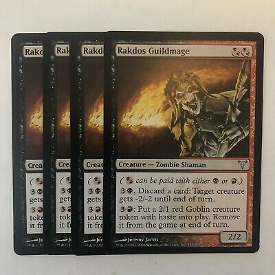 4 Rakdos Guildmage ~ Hybrid Dissension Mtg Magic Uncommon 4x x4
