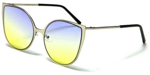 NEW Cat Eye Oceanic Colours Oversized Designer Womens Sunglasses 100/%UV400 1572