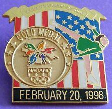 NAGANO 1998 Olympic Collectible Logo Pin - Gold Medal Women's Figure Skating