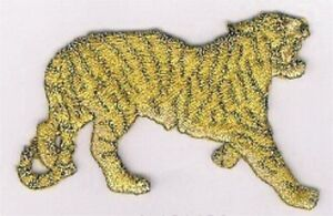 "3 "" Doré Tigre Jungle Safari Broderie Patch"