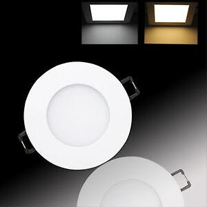 LED-Panel-Einbaustrahler-Deckenleuchte-Einbau-Leuchte-eckig-rund-ultraslim-slim