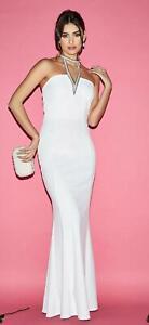 X-Quiz-White-Embellished-Olivia-Pearl-Fishtail-Maxi-Dress-Bridal-Wedding-Evening