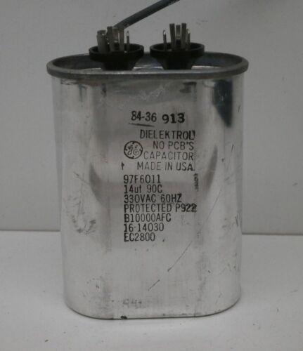 GE 97F6011 Capacitor 14uF 14µf 14MFD 330VAC 330V