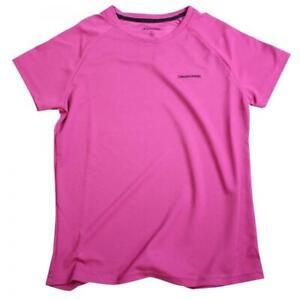 Craghoppers Femmes Basecamp à Encolure Ras-du-cou Randonnée Camping T-shirt Rose-taille 10-afficher Le Titre D'origine