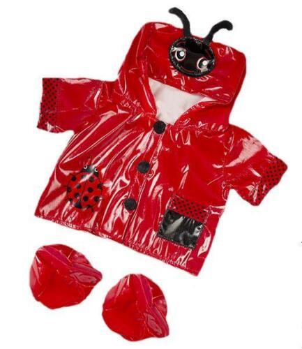20.3cm rote Marienkäfer schön Regenmantel Mantel mit Stiefel für 20.3cm-25.4cm