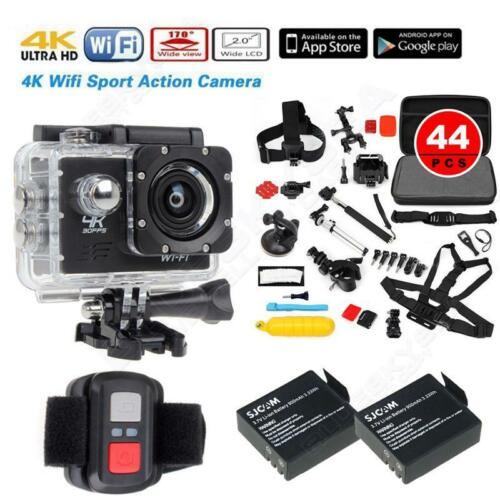 SJ8000 4K 19201080P WIFI Action Camera+2 Battery+44 in1 Accessories+Remote B19
