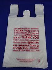 Multi Language Thank You T Shirt Bags 115 X 6 X 205 Plastic Retail Shopping