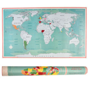 Rex London Scratch World Map Ebay