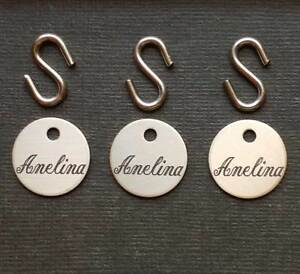 """BRIDLE TAG THICK 3//4/"""" CUSTOM ENGRAVED SOLID NICKEL SILVER HORSE PET FAST SHIP"""
