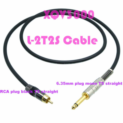 6.35mm 1//4 plug mono to RCA TV male Audio Aux DIY Cable L-2T2S Cord High quality