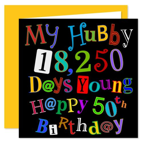 Age Range 21-100 Years My Hubby Happy Birthday Card What A Kerfuffle