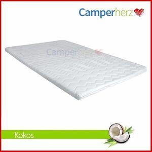 3 cm matratzenauflage 160x200 kokos matratzenschoner bezug wohnwagen topper ebay. Black Bedroom Furniture Sets. Home Design Ideas