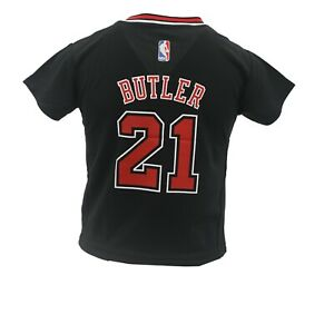 quality design 8cfb5 b31cb Details about Chicago Bulls NBA Adidas Youth Kids Size Jimmy Butler Jersey  with Sleeves New